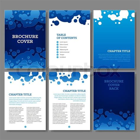 cover table of contents and 3 internal pages blue water