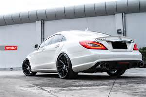 boostaddict beautiful white c218 cls63 amg tinted and