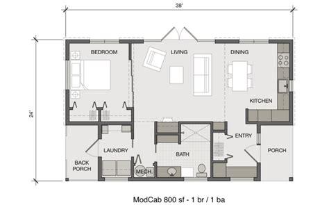modern modular homes floor plans fabcab modcab 800 s prefab home modernprefabs com