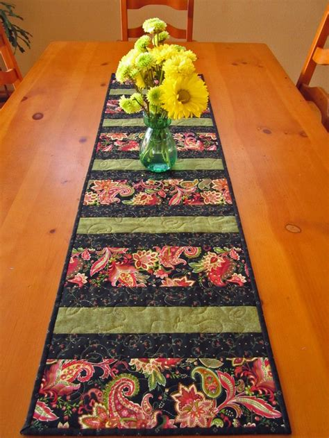 quilted table runners quilted table runner paisley stripe mini version of