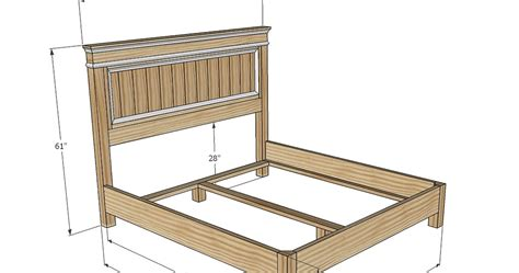 wooden bed frame plans king size wood bed frame plans