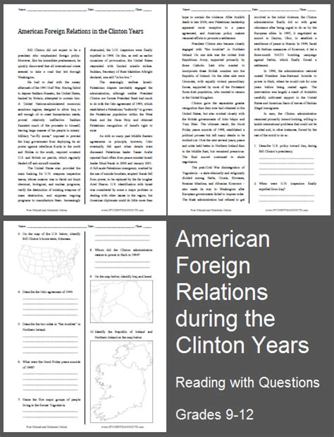 American Foreign Relations In The Clinton Years Reading