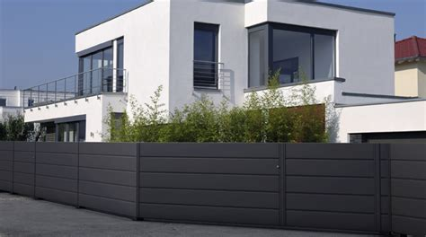 moderne zäune metall gartengestaltung zaun design