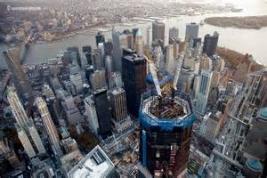 new york one world trade center construction aerials