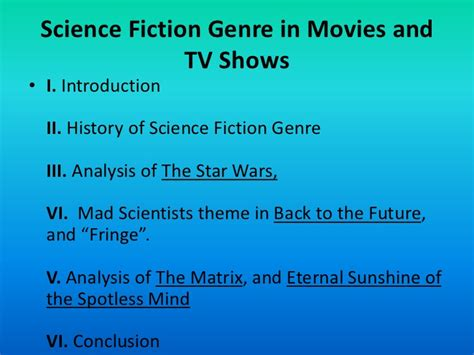 fantasy film genre history science fiction genre in movies and tv shows