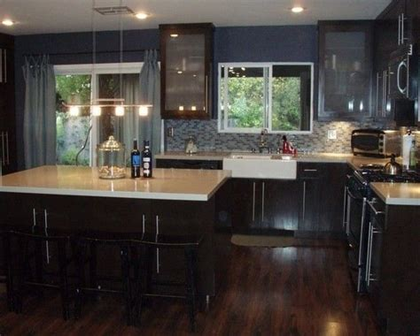 kitchen floor ideas with dark cabinets pictures of kitchens with dark cherry cabinets floors