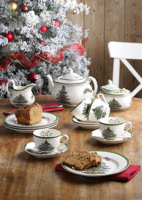 christmas trees delamere spode tree mug with peppermint handles set of 4 spode uk