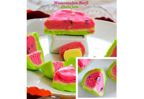 besan ki sondhi roti par watermelon barfi fudge desserts indian
