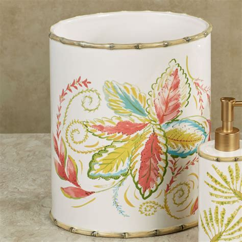 tropical bathroom accessories tropical palm ceramic bath accessories by dena home