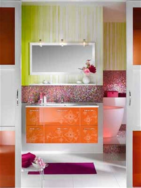 orange and green bathroom modern bathroom decorating ideas light purple and pink