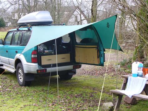 how to make a cer awning awnings off a roof rack suggestions and pictures please