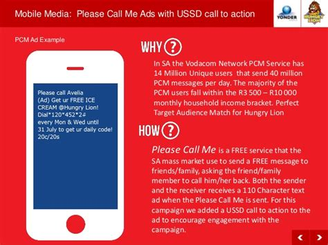 vodacom please call me yonder media detailed supporting presentation hungry lion