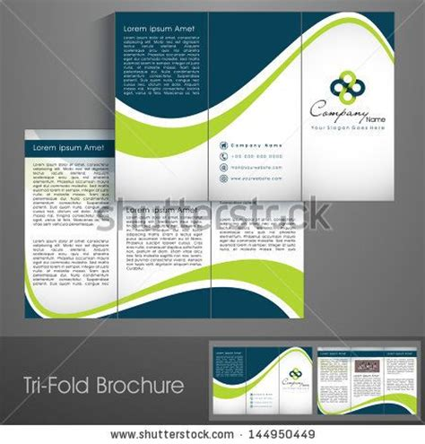 c brochure template professional business three fold flyer template corporate