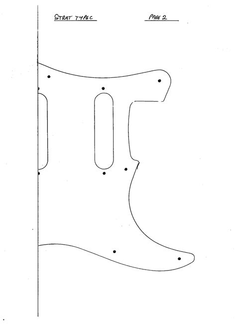 fender neck template electric guitar pickguard steel blue pearl guard