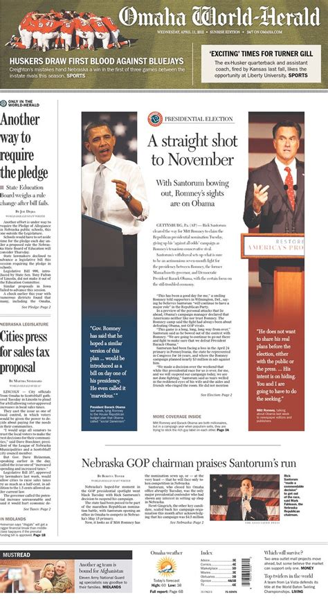 omaha world herald go section 58 best front pages layouts designs and more images on