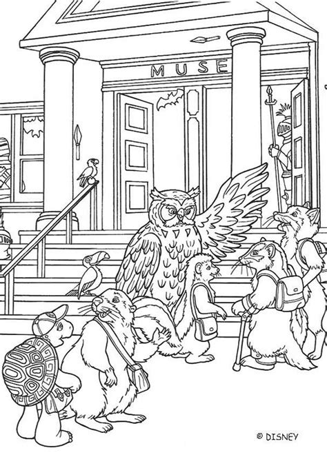 Franklin And Museum Coloring Pages Hellokids Com At The Museum Coloring Pages