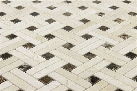 basket weave ceramic tile backsplash home design ideas