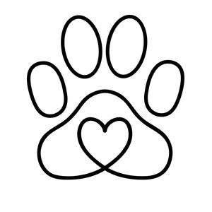 lion paw coloring page silhouette design store view design 211184 heart paw print