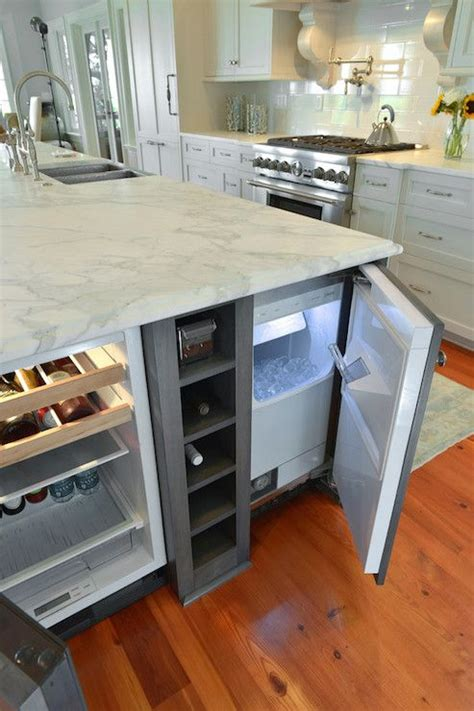 kitchen island with refrigerator 31 smart kitchen islands with built in appliances digsdigs