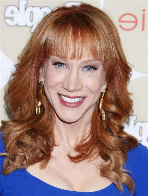over 50 long hairstyles with bangs kathy griffin feminine long curly hairstyle with bangs for