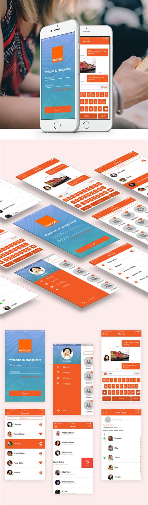 free mobile chat free mobile chat application ui design free psd