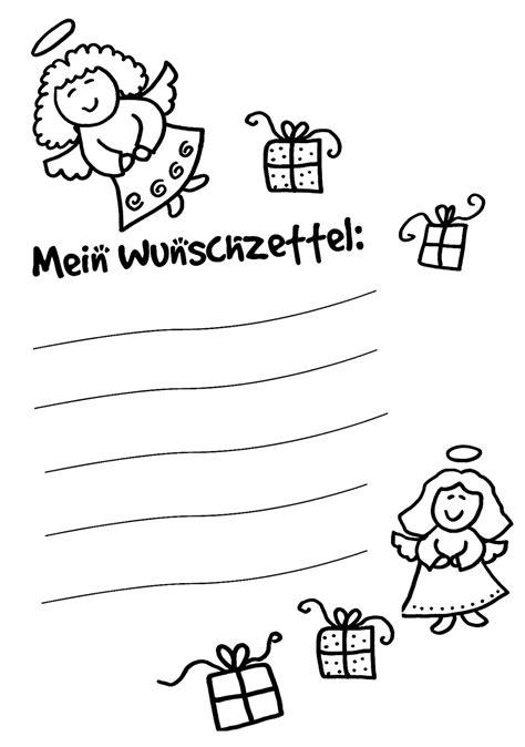 Kostenlose Vorlagen Weihnachten kostenlose ausmalbilder und malvorlagen wunschzettel f 252 r
