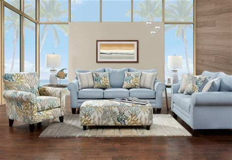 coral reef accent chair fusion labyrinth sky sofa and loveseat with coral reef