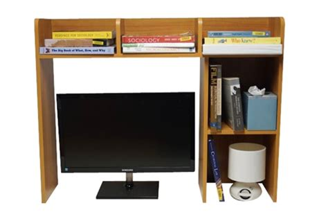 desk essentials for college dorm organizer classic dorm desk bookshelf storage