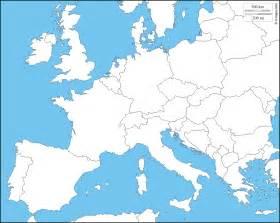 Western Europe Blank Map by Gallery For Gt Blank Western European Map