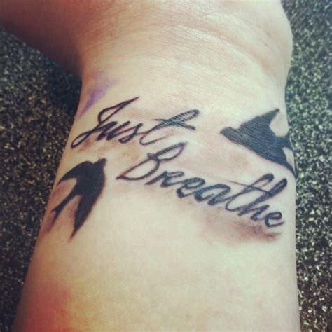 heartbeat tattoo just breathe my wrist tattoo quot just breathe quot tattoos pinterest the