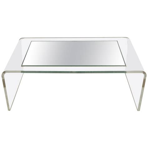 vintage modern lucite waterfall coffee table after charles