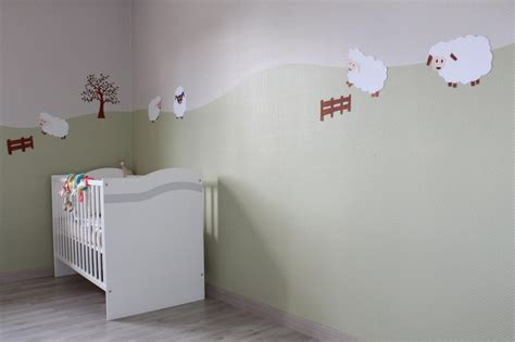 cevelle peinture mur inspiration chambre bebe
