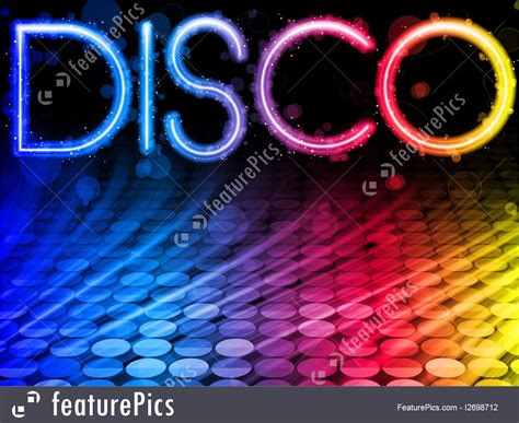 letters  numbers disco background stock illustration