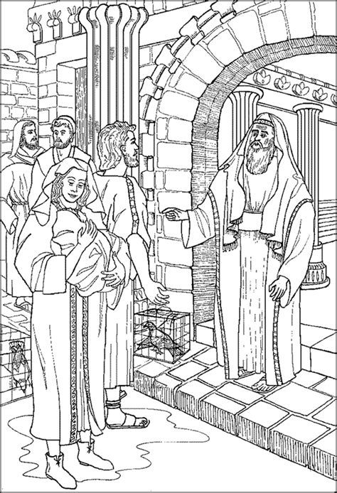 free coloring pages of simeon and anne