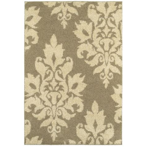 Damask Kitchen Rug Home Decorators Collection Meadow Damask Neutral 9 Ft 6 In X 12 Ft 2 In Area Rug 448999