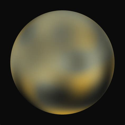 what color is pluto the planets pluto pretty science
