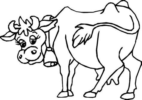 cow bell coloring page dairy cow netart