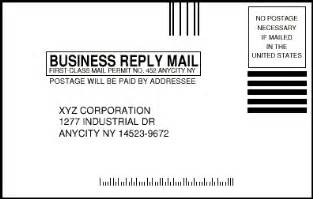business reply cards mailing services with