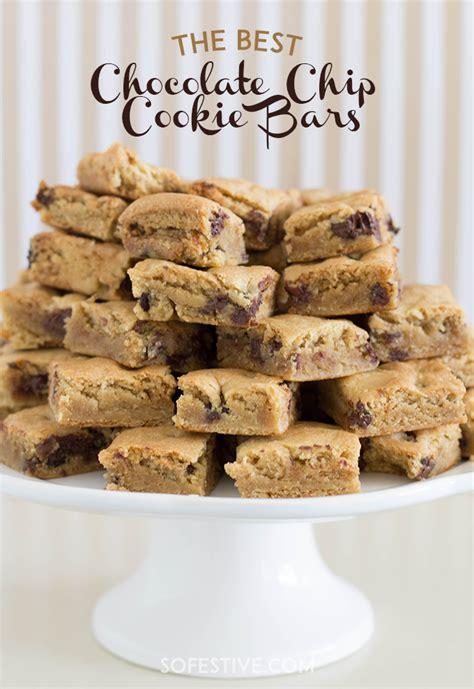 best chocolate chip cookie the best chocolate chip cookie bars so festive