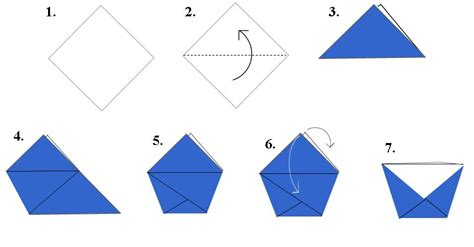 Make Paper Cup - how to make a paper cup by folding 10 steps with pictures