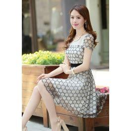 Dress Wanita Import Baju Pesta Chiffon Tile 750 dress wanita korea lengan pendek d1043 moro fashion