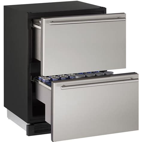 Drawer Cooler by U Line 1224dwrs 00b 5 4 Cf Drawer Refrigerator Stainless
