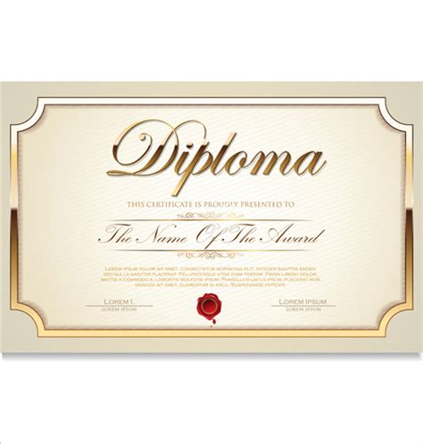 certificate template illustrator certificate template adobe illustrator free vector