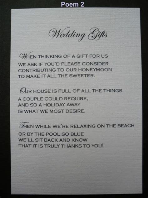 Wedding Registry House Fund by Best 25 Wedding Gift Poem Ideas On Wedding