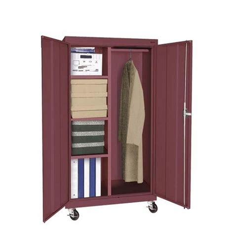 Mobile Wardrobe Cabinet by Sandusky Elite Series Mobile Combination Storage