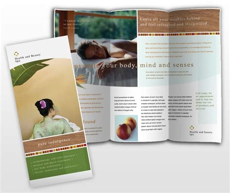 health and beauty spa brochure template dtp ideas