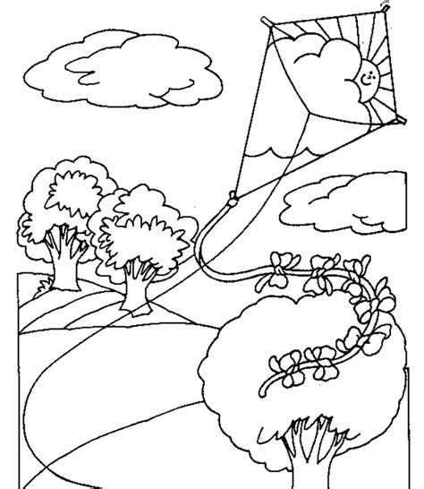 coloring pages with kites kite color pages coloring home