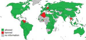Thismap shows where genetically modified crops are allowed and not