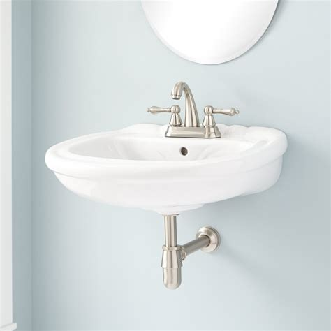 Nantiby Porcelain Wall Mount Sink Wall Mount Sinks