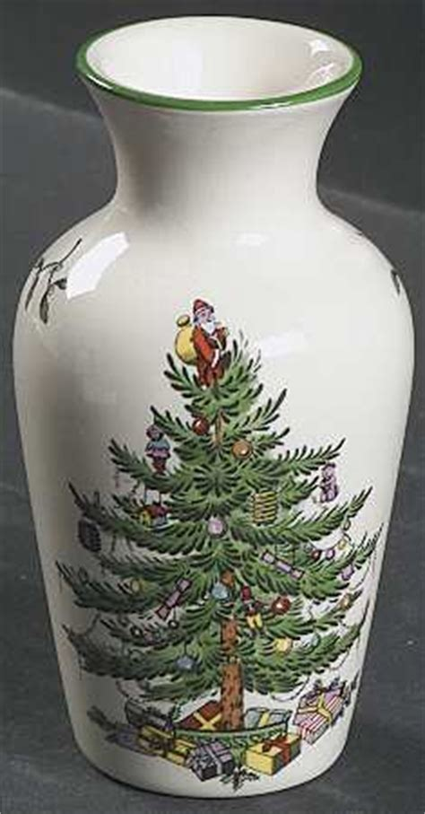 Spode Tree Vase by Spode Tree Green Trim At Replacements Ltd